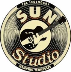 Beige Signs-USA - Sun Studio - Wandbord - Rond 50 cm