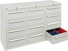 Stumpf Metall Stumpf® ST 420 plus Schubladenschrank mit 12 Schubladen, lichtgrau - 90 x 149 x 50 cm