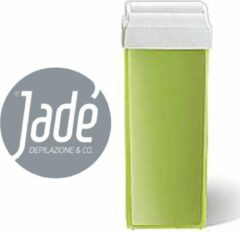 Groene Jade Stripwax Harspatroon Aloe en Argan Oil -ontharingswax - wax roll on- Harsvulling met brede roller- 100 ml