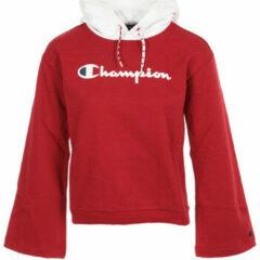 Rode Kleding Champion Large Script Logo Bi-Colour Hooded Sweatshirt by Champion
