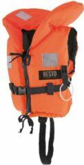 Marineblauwe Besto Reddingsvest - Maat 2 - oranje/navy Maat 2: gewicht: 15-20 kg / Drijfvermogen 40N