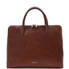 Bruine GiGi Fratelli Romance Business laptoptas 15 inch brandy