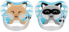 Dr. Brown's Dr Browns Fopspeen Fase 1 Blauw Animal Faces