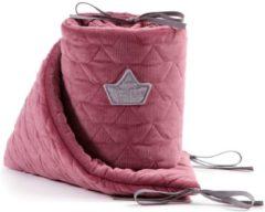 Donkerrode La Millou VELVET COLLECTION - Mulberry - BedBumper 60cm X 120cm - Bedomrander - Stootrand