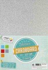 Rode Glitter karton - Craft Sensations - 10 vellen - 300gram - 5 verschillende kleuren