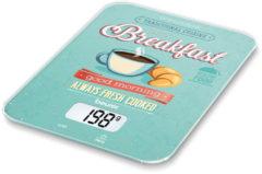 Beurer KS-19 Breakfast Digitale keukenweegschaal Digitaal Weegbereik (max.): 5 kg Mint, Bont