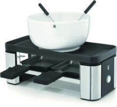 Zilveren WMF raclette en fondueset voor twee KÜCHENminis®, 3 raclettepannetjes, 370 watt