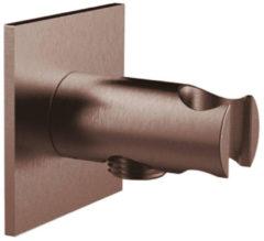 Handdouchehouder Herzbach Living Spa PVD-Coating Vierkant 7x7 cm Koper