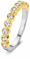 Velini jewels -R6251G-50 -Ring -925 Zilver 14 karat verguld -Cubic Zirkonia