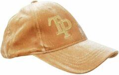 Creme witte Thannaphum Handgemaakte golfcap - Camel