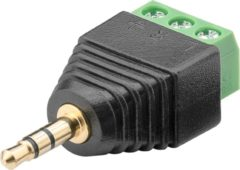 Goobay 76745 kabeladapter/verloopstukje 3-pin 3,5 mm Zwart, Groen