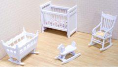 Merkloos / Sans marque Victoriaans poppenhuis kinderkamer meubels