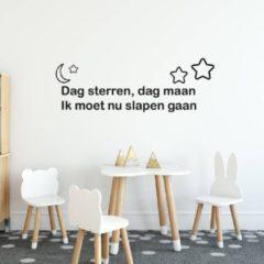 Muursticker Dag Sterren, Dag Maan - Oranje - 160 x 55 cm - baby en kinderkamer - Muursticker4Sale