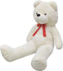 VidaXL Teddybeer zacht pluche XXL 150 cm wit