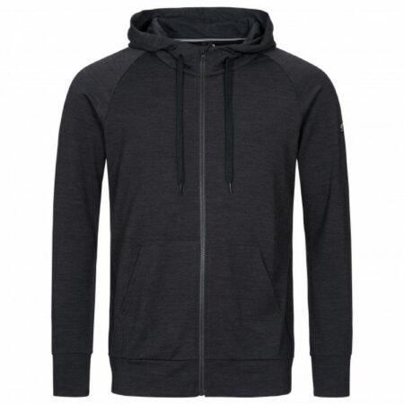 Afbeelding van Super.natural - Essential Zip Hoodie - Merinohoodie maat L, zwart