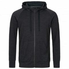SuperNatural - Essential Zip Hoodie - Merinohoodie maat L, zwart