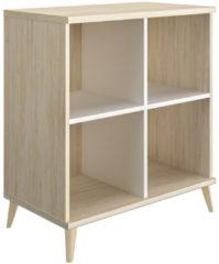 Gamillo Furniture Open boekenkast Artefact 90 cm hoog in eiken