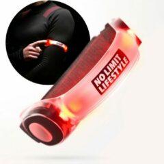 No Limit Lifestyle Hardloop Verlichting - Hardloopverlichting - Hardloop Lampjes - Rood - LED armband - LED armband hardlopen