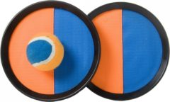 Blauwe Engelhart Catch Ball Set - Scratch Super Grip - Oranje/blauw