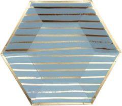 Blauwe Kartonnen borden - Malibu - Harlow & Grey - 20cm - 8 stuks