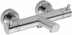 Douche Concurrent Badkraan Xenz Duero 27.1cm Thermostatisch Opbouw Rond RVS 2 Greeps