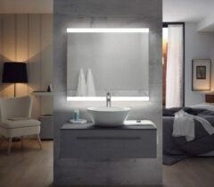 FOCCO Emma LED spiegel 80x70 met twee banen