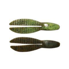 Keitech Flex Chunk Large - Softbait - 4inch - groen Pumpkin Chartreuse - 5 Stuks - Groen