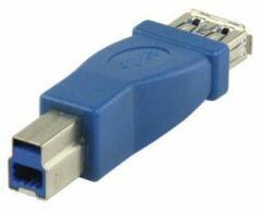 Blauwe Valueline VLCP61900L USB B Mannelijk USB A Vrouwelijk Blauw kabeladapter/verloopstukje