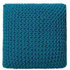 Marineblauwe Poef zeeblauw 50 x 50 x 31 cm CONRAD