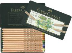 Faber Castell FC-112112 Pastelpotlood Faber-Castell Pitt Metalen Etui A 12 Stuks
