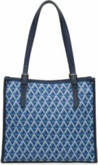 Shopper LANCASTER Paris Ikon - Tote bag - canvas/leer - Blauw