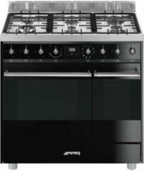 Smeg C92GMNNLK9 gasfornuis met 2 ovens en vapor clean functie