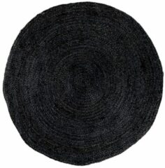 Artichok Milou vloerkleed - Jute - Rond Ø150 cm - Donkergrijs