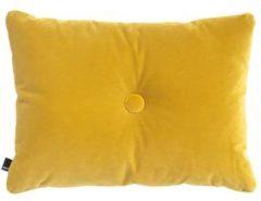 Gele Hay Dot kussen van fluweel 60 x 45 cm