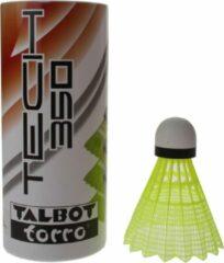 Talbot Torro badminton shuttles Tech 350 geel/groen 3 stuks