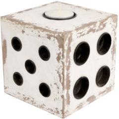 Witte Merkloos / Sans marque Sfeerlicht dobbelsteen 17x17x17cm