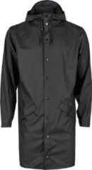 Zwarte Rains Long Jacket 1202 Regenjas - Unisex - Black