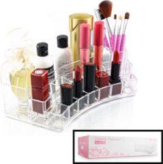 XL Make up Organizer met 19 Vakken - Make-up Organizer Transparant - Sieraden Makeup Cosmetica Opbergsysteem - Display Houder voor Lippenstift / Nagellak / Brushes / Visagie - Make up kwasten / Sieraden etc. - Decopatent®