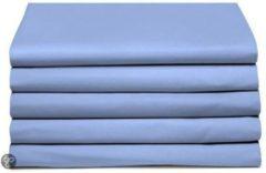 Azuurblauwe Laken katoen 200 x 260 (61) azure Standaard Damai