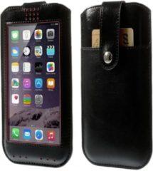 Zwarte View Cover Sleeve Oppo Mirror 5, Hoes (L) met Touch Venster, zwart , merk i12Cover