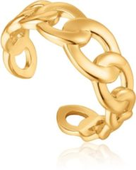 Ania Haie Ringen 925 Sterling Zilver Curb Chain Adjustable Ring Goudkleurig
