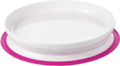 Witte Oxo Tot Stick & Stay Plate / Bord Pink