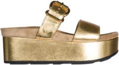 Oro Prada Ciabatte donna in pelle
