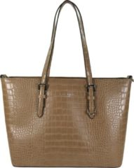 Flora & Co Shoulder Bag Shopper Croco Taupe