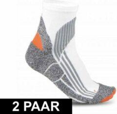 Merkloos / Sans marque 2x paar hardloop sportsokken voor volwassenen in maat 39-42