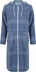 ZusenZomer Dames badjas met rits - Blauw - L