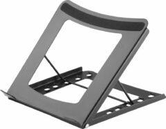 """DELTACO OFFICE DELO-0200, Opvouwbare stalen laptop standaard voor 10""""- 15 inch laptop/ tablet, 5 hoogteniveaus, zwart"""