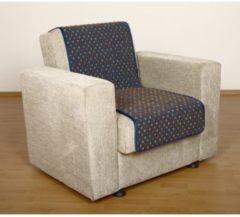 Sesselschoner Sitzflächenschoner Wolle Noppen ca. 150 x 50 cm blau Linke Licardo blau