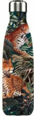 Groene Chilly's Bottles Chilly's Bottle Drinkfles - Tropical Leopard - 500 ml