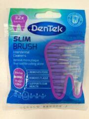 Dentek Slim Brush ISO 1 -0,45mm met Mintsmaak - Recht